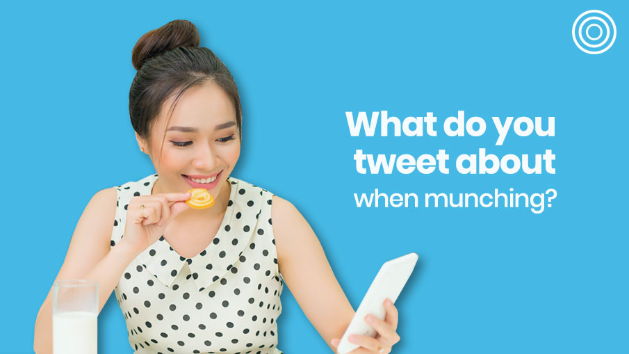 What do you tweet about when munching?