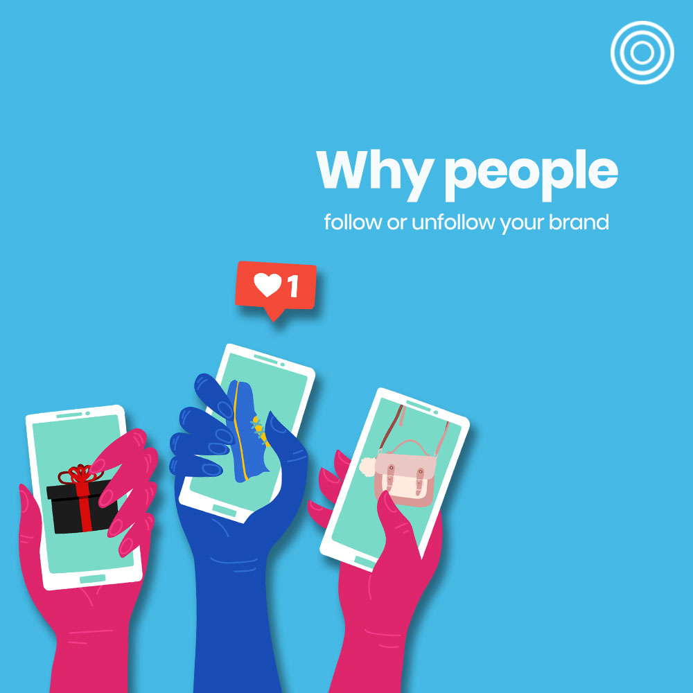 Why people follow or unfollow brands on social